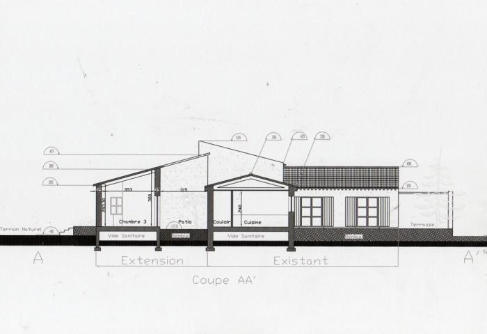 Maison d'hôtes - extension ( projet en cours )