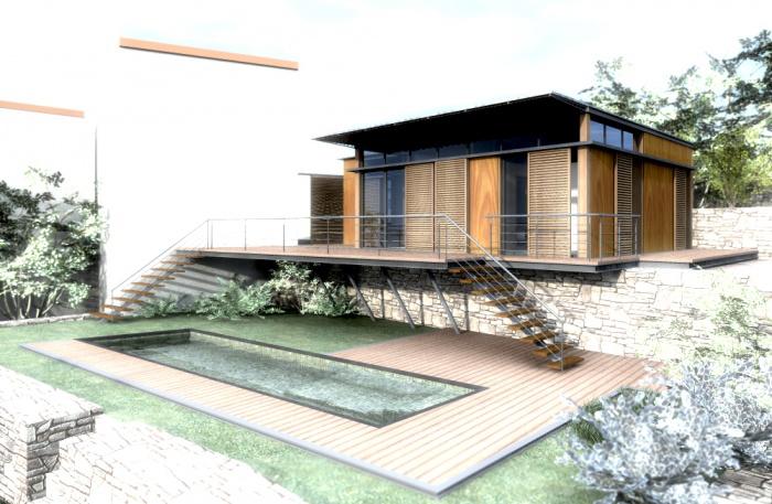 maison ossature bois lavazina corse une r alisation de atelier rs architecture. Black Bedroom Furniture Sets. Home Design Ideas