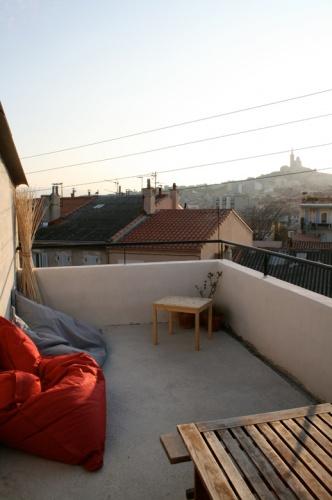 surélévation d'une maison à Marseille : terrasse