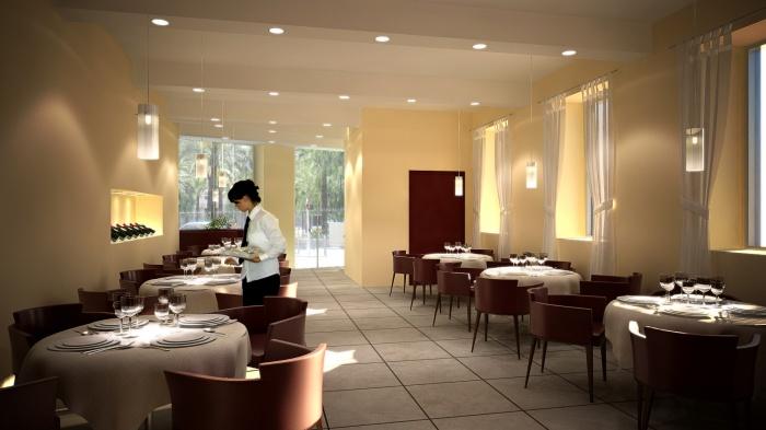 Projet d'aménagement d'un restaurant : univers rendu15
