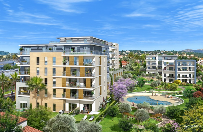 Résidence de 94 logements avec parc et piscine
