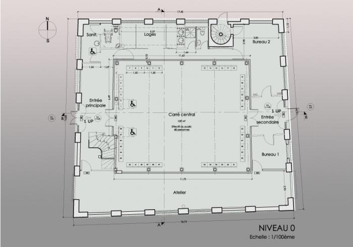 Réaménagement d'un théâtre et mise en conformité : NIVEAU 0