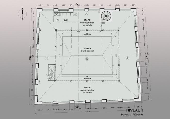 Réaménagement d'un théâtre et mise en conformité : NIVEAU 1