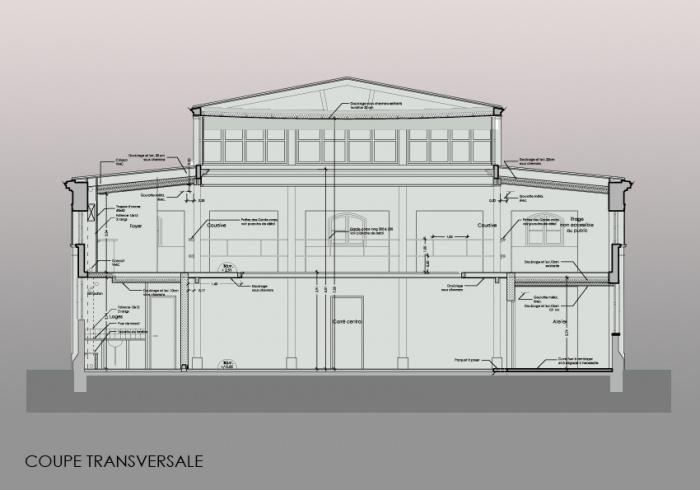 Réaménagement d'un théâtre et mise en conformité : COUPE