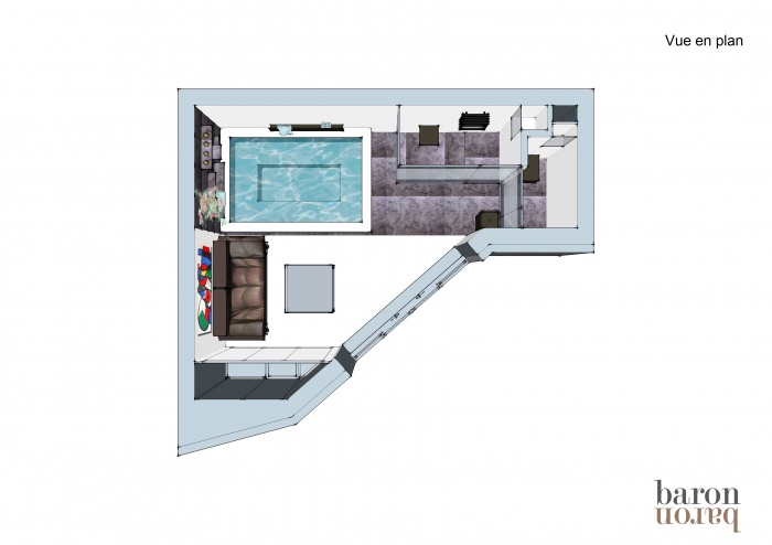 Pool house espace bien tre mougins une r alisation for Isoler un conteneur