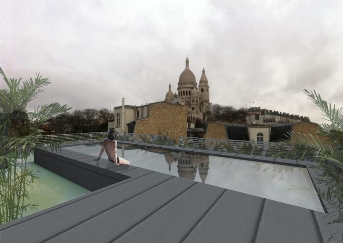 Hotel Montmartre : vue toiture.jpg