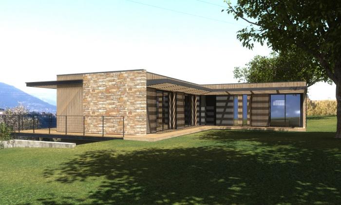 Maison contemporaine ossature bois nice - Maison contemporaine fougeron architecture ...