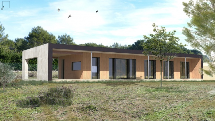 Conception d'une maison contemporaine en bois