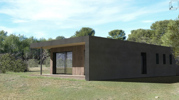 Conception d'une maison contemporaine en bois : villa-contemporaine-bois-architecture-bandeau-provence